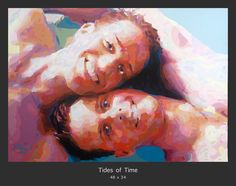 """""""TIDES OF TIME"""" by Artist Donald-Rizzo. This Commissioned work captures life's beautiful moments and the tender love that can be found. See more portraits http://www.donald-rizzo.com/gallery/portraits/"""
