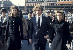 Jackie Onassis, Joe Kennedy, and Ethel Kennedy during Funeral of Cardinal Cushing in Boston, Massachusetts, United States.