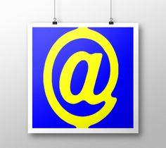 "Art+print+""@yellow+blue""+by+eliso+ignacio+silva+simancas"