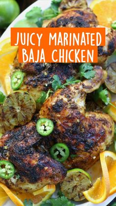 Healthy Chicken Recipes, Turkey Recipes, Meat Recipes, Real Food Recipes, Yummy Food, Roasted Chicken, Tandoori Chicken, Pork And Beef Recipe, Orange Chicken