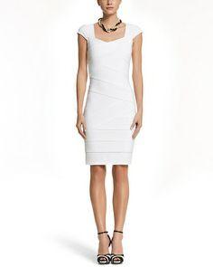 White House | Black Market Instantly Slimming Cap Sleeve Dress #whbm I love this!