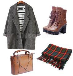 Large Fashion Winter Warm Scotland Tartan Thick Scarf Stole Wrap Blogger Styl...: http://amzn.to/1J1kFIs