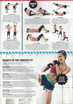 Jillian Michaels BODYSHRED trainer Jaime McFaden in Women's Health magazine sharing secret tips