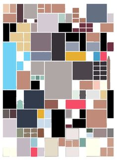 Chris Ware panels reduced to its main colors