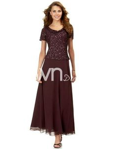 Hot Seller Dark Wine Mother of Brides Dress with Bodice of Sequi, Couture Mother of Groom dresses - ownDress.com