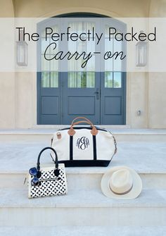 How to perfectly pack your carry-on essentials!