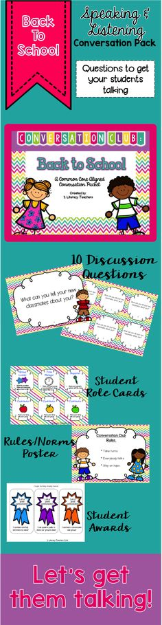 Speaking and listening is a breeze with this conversation club pack. Get your students talking and break the ice at the beginning of the year with these questions. This packet just got a facelift BUT you can still read about how we use it in our classroom.