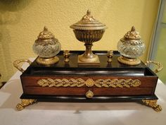A fine quality early 19th century inkstand : The British Antique Dealers' Association