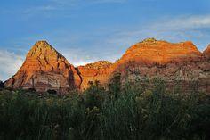 Zion National Park campsite view.