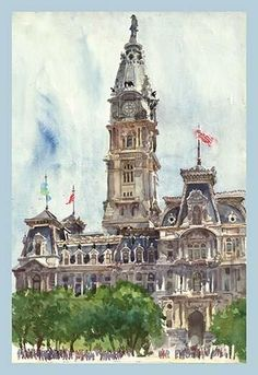City Hall Tower. High quality vintage art reproduction by Buyenlarge. One of many rare and wonderful images brought forward in time. I hope they bring you pleas