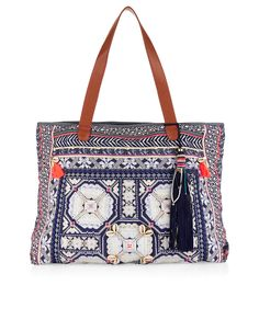 Wow Azure Tote Bag   Navy   Accessorize