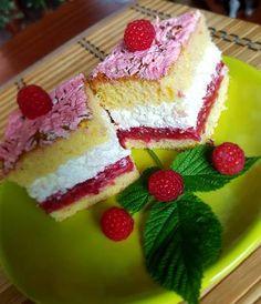Málnás-túrós süti Food And Drink, Pudding, Cake, Recipes, Heavenly, Italia, Hungary, Custard Pudding, Kuchen
