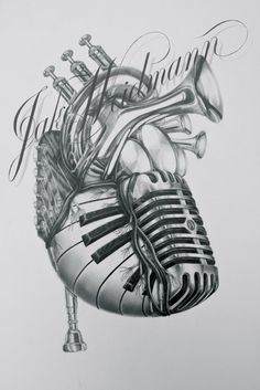 This is absolutely PHENOMENAL art work. Take a look at it up-close, here --->  http://jakeweidmann.com/shop/heart-of-music/