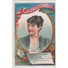 Chicago Corset Co Geo H Sickels & Co Albion NY New York Vintage Trade Card