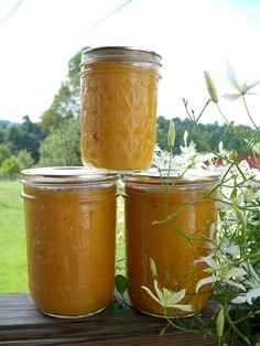 Hot pepper mustard - this was a great way to use up all of my hot banana peppers!