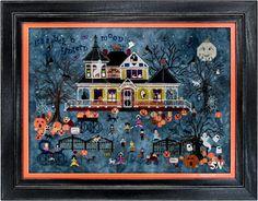 La STREGA /& The Moon contati Punto Croce Kit-Halloween//streghe