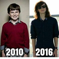 These six years have aged him WONDERFULLY