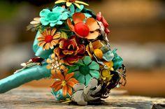 Wedding Brooch Bouquet  Soft Fall or Summer by LionsgateDesigns