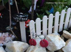 fairy garden- bicycle made of buttons #fairygarden