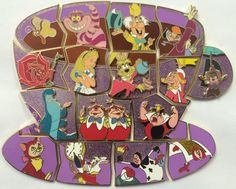Disney Parks Alice in Wonderland 65th Mad Tea Party Cup Mystery 16 Pin Set LR