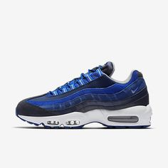 huge discount 1befd 8a2e0 Nike Air Max 95 Essential Dark Obsidian Hyper Cobalt Coastal Blue Wolf Grey  Mens Shoes Outlet