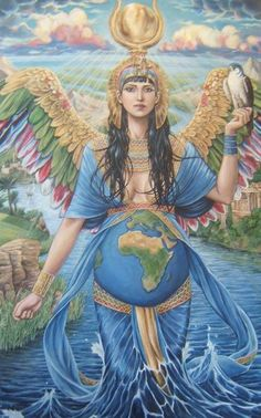 goddess energy and its significance Isis Goddess, Earth Goddess, Mother Goddess, Goddess Art, Egyptian Goddess, Egyptian Art, Aphrodite Goddess, Pagan Art, Egyptian Mythology
