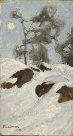 Winter Landscapes  -  Pekka Halonen  Finnish 1865-1936