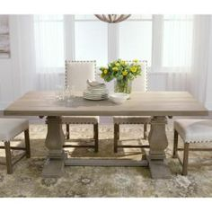 Home Decorators Collection Aldridge Antique Gray Dining Table-NB-063AG - The Home Depot