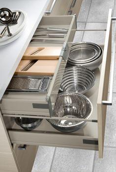 Tiroir intégré dans casserolier
