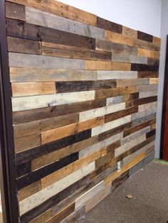 Pallet Wall in Dance Studio. 7ftx9ft