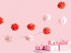 Martha Stewart Crafts - Vintage Girl Collection - Pom Pom Garland - Pink