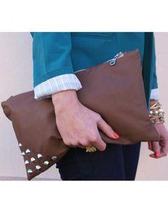 chocolate studded clutch