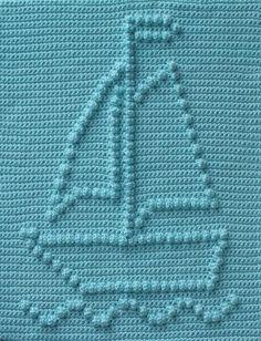 Парусник Одеяло шаблон   Craftsy