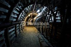 Stock Photo : Coal mine corridor