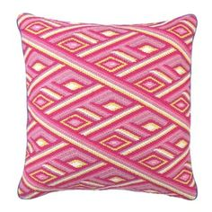 Marcella Bargello needlepoint pillow