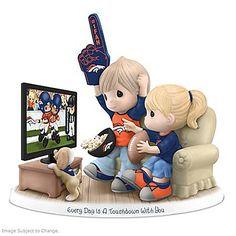 NFL-Licensed Denver Broncos Fan Precious Moments Porcelain Figurine