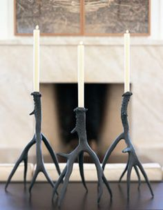 Bronze Antler Candlesticks - candles and candle holders - by Forma Living