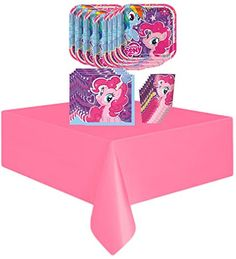 My Little Pony Birthday Party Supplies Pack Bundle - Plates, Napkins, Cups, Table Cover - http://www.partythings.com/my-little-pony-birthday-party-supplies-pack-bundle-plates-napkins-cups-table-cover.html