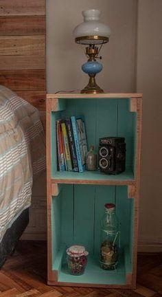 mesa de luz, madera reciclada pallet