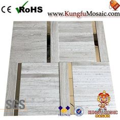 Generally speaking, the wooden marble mosaic always light color. As most wooden style stone in grey or white color. Of course, there also has black wood marble too. For example, this product made by white wood stone. Stone Mosaic Tile, Marble Mosaic, Mosaic Tiles, Black Wood, White Wood, Wood Stone, Travertine, Light Colors, Mosaic Pieces