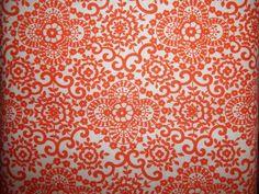 Beautiful orange Print on white back ground by Tanya Whelan for free Spirit 1 yrd cotton quilt fabric