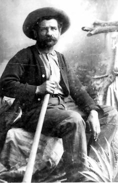 There is perhaps no more recognized face in the history of Bisbee, Arizona than that of George Warren.  A prospector, gambler, and drinker, Bisbee's mining district, the Warren Mining District is named in his honor.  .  This image is from the photograph collection of the Bisbee Mining & Historical Museum.  Discover more Bisbee, Arizona images and artifacts at www.facebook.com/BisbeeMuseum.  #bisbee #arizona #mine #miner #mining #history #copper