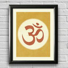 Om Print Yoga Print Yoga Studio Decor by LotusLeafCreations, $12.00