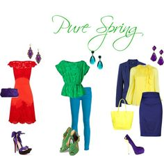 """Pure Spring Looks"" by sabira-amira on Polyvore"
