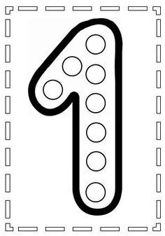 do a dot number 1 Preschool Learning Activities, Preschool Printables, Kindergarten Worksheets, Toddler Activities, Preschool Activities, Kids Learning, Numbers Preschool, Learning Numbers, Do A Dot