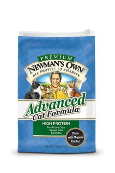 Newmans Own Advanced Cat Food Formula Bag * Details can be found by clicking on the image. (This is an affiliate link)