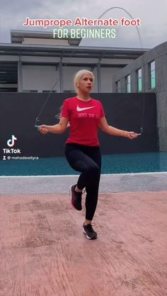 Beginner Jump Rope Workout, Gym Workout For Beginners, Fitness Workout For Women, Jumping Rope Workout, Body Fitness, Jump Rope Challenge, Workout Challenge, Gym Workout Videos, Abs Workout Routines