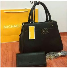 f0d486ca99bd Black MICHAEL KORS High Quality 2 IN 1 Women Bag Set. Bvlgari Handbags