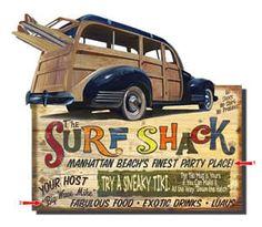 Surf shack sign