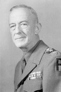 """General Courtney Hicks Hodges (January 5, 1887 – January 16, 1966) was an American military officer, most prominent for his role in World War II, in which he commanded the First United States Army in Northwest Europe. In his career Hodges was a notable """"mustang"""" officer, rising from private to general."""